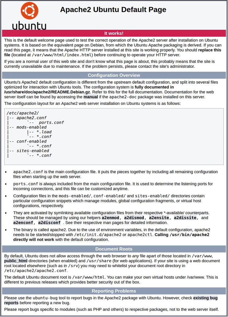 Apache Standardseite