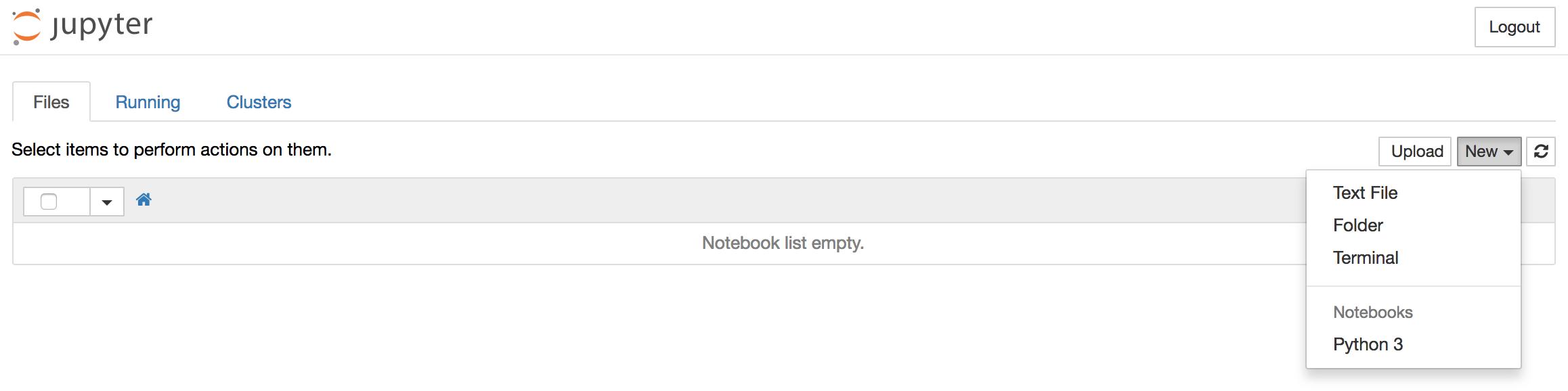 Erstellen eines neuen Python 3 Notebooks