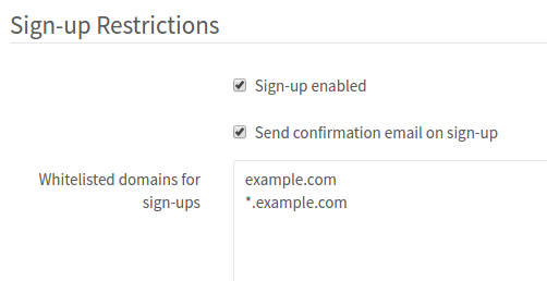 GitLab restrict sign-ups by domain