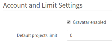 GitLab set projects to zero