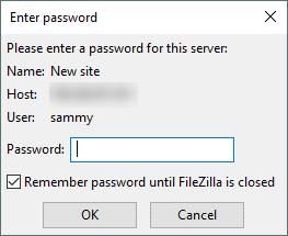 Password Dialogue