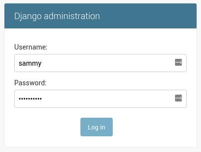 Inicio de sesión de administrador en Django