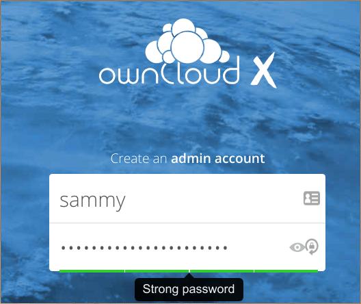 Учетная запись администратора ownCloud