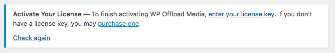 WP Offload License