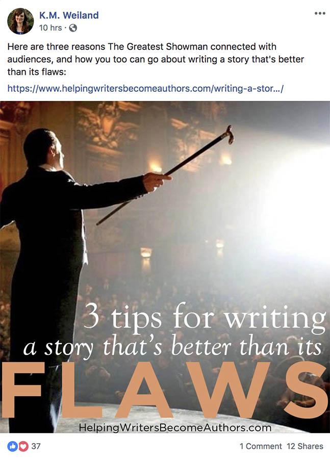 K.M. Weiland's Facebook page.
