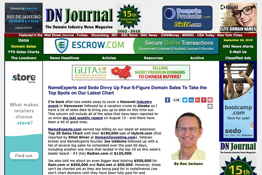 The DN Journal website.