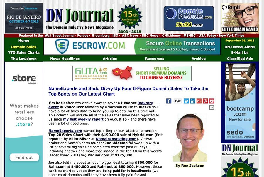 The DN Journal website.