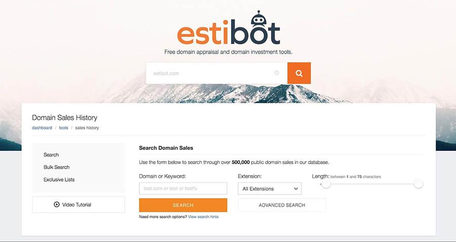 The EstiBot website.