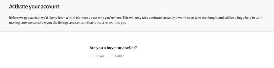 Choosing to be either a buyer or seller.