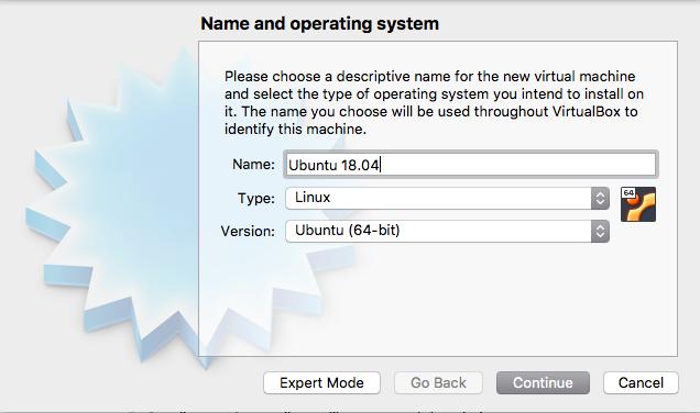 Name Virtual Machine Window