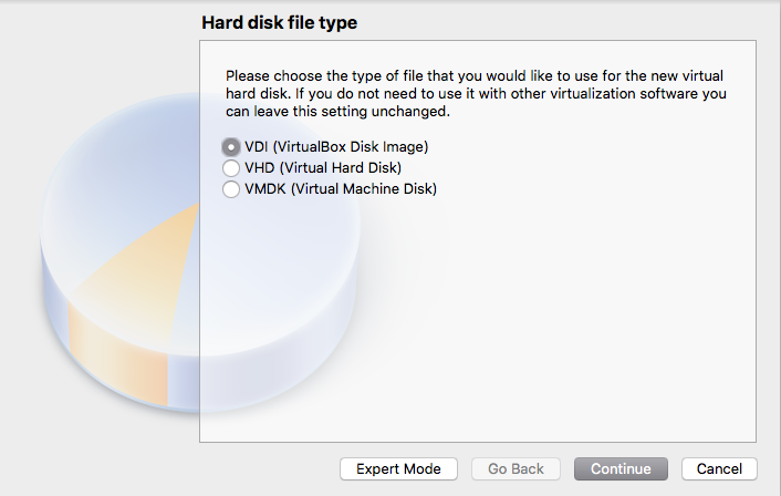 Select Hard Disk Type Window