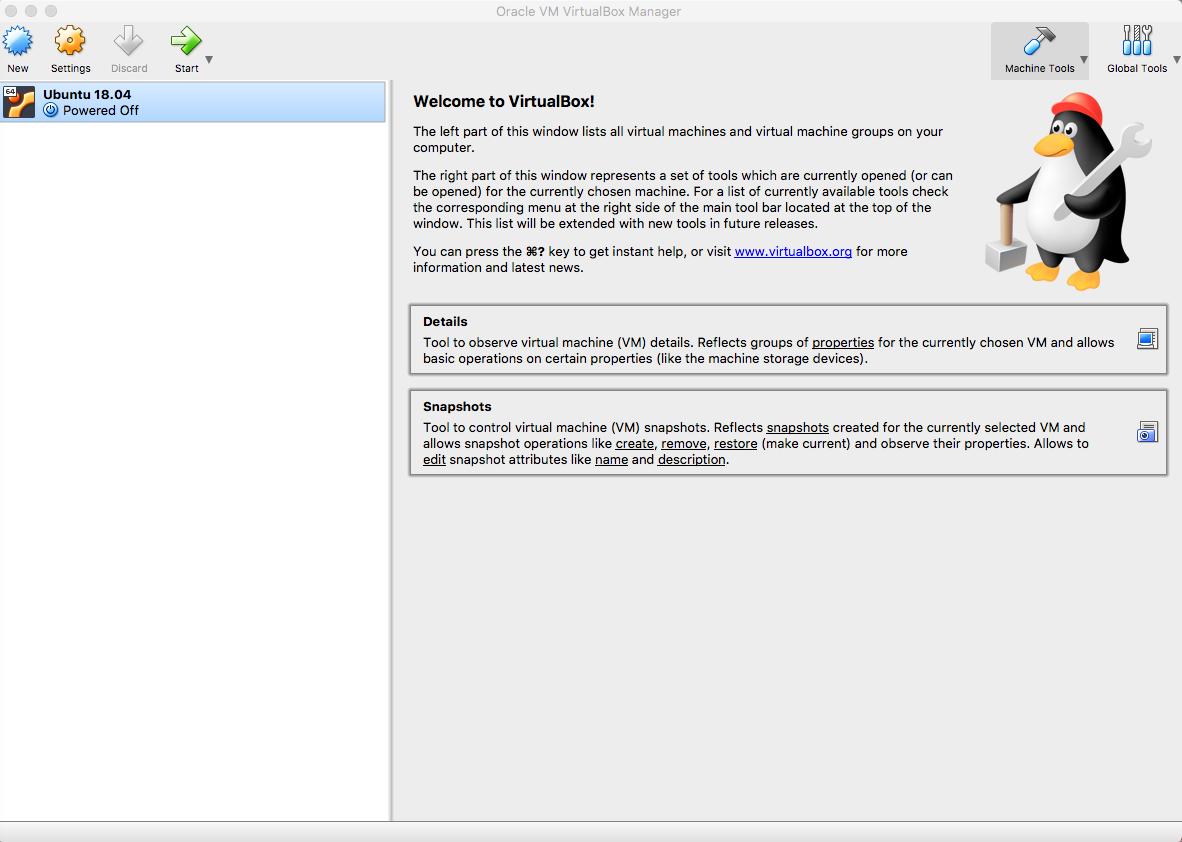 VM Welcome Screen