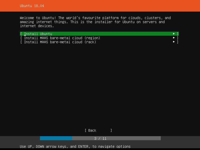 Ubuntu Installer Selection