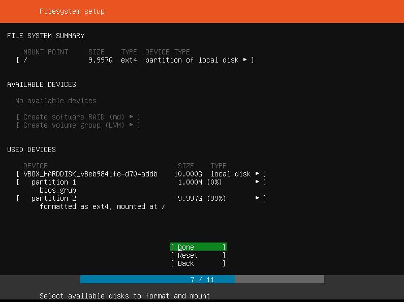 Ubuntu Filesystem Summary