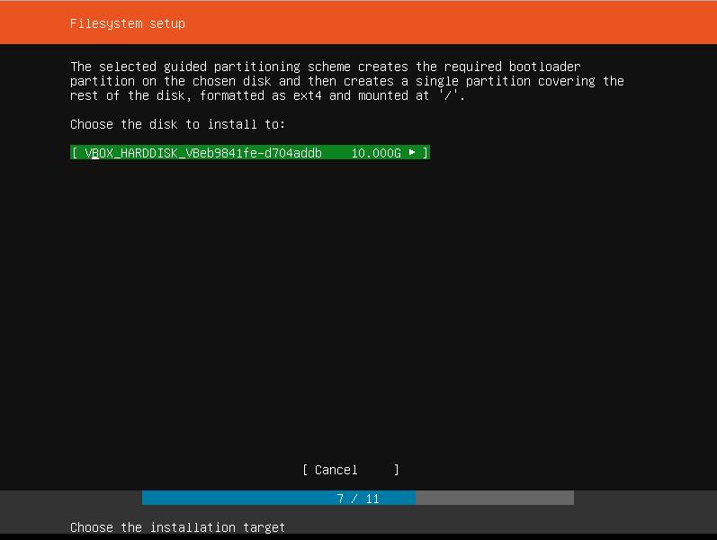 Ubuntu Filesystem setup