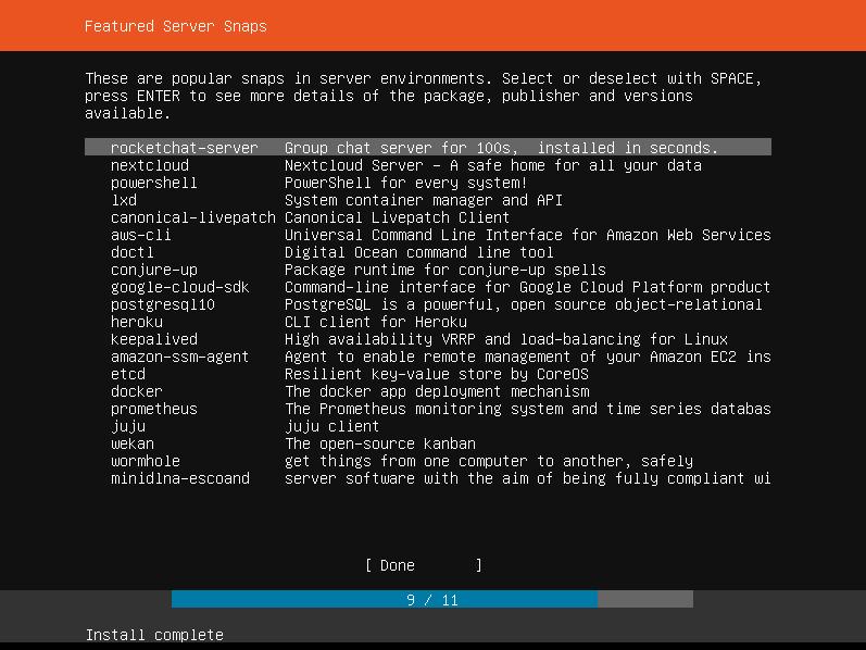 Ubuntu Select Snaps