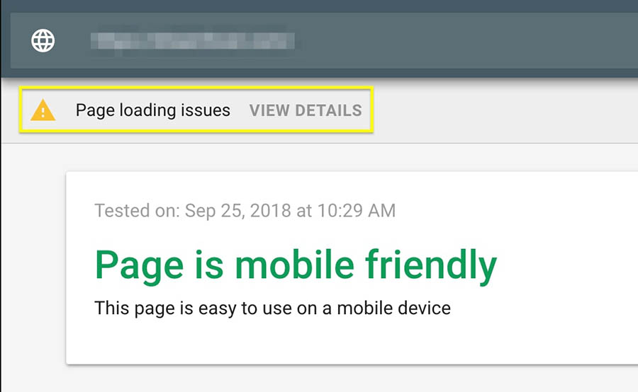 Page Loading Issues notification.