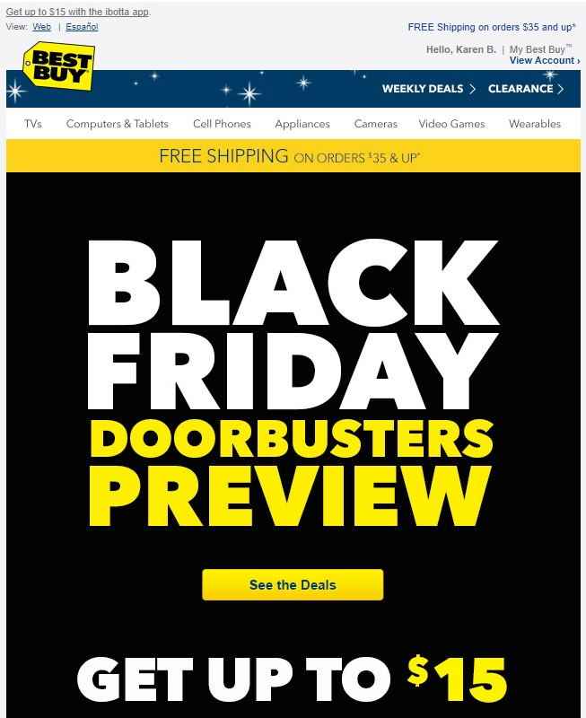 Black Friday deal from Best Buy.