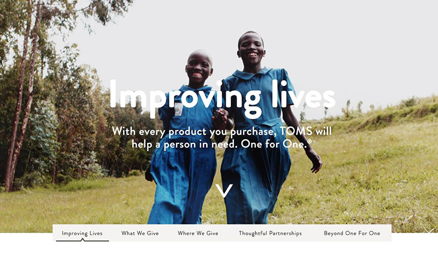 The TOMS Improving Lives program.