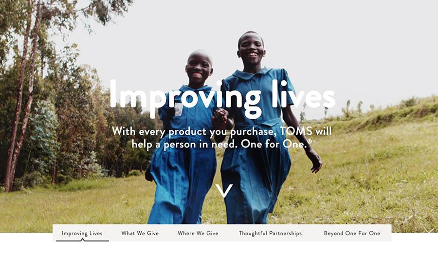 The TOMS Improving Lives program.
