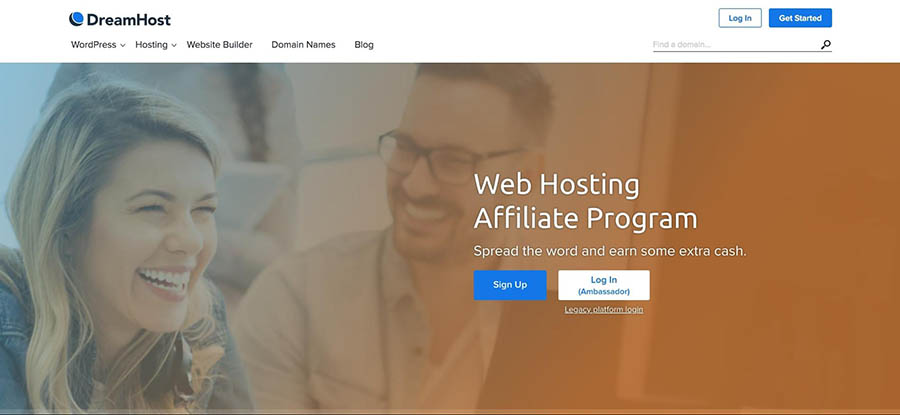 The DreamHost affiliate program.