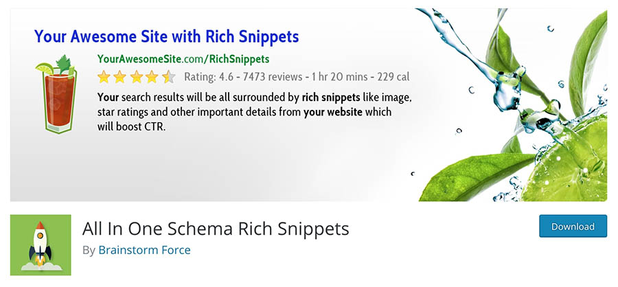 The All In One Schema Rich Snippets plugin.