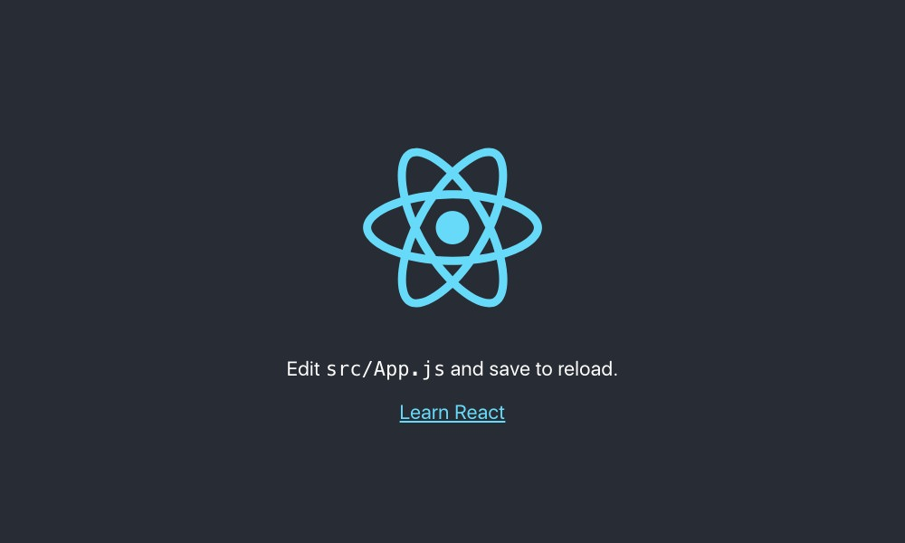 The first version of your React application