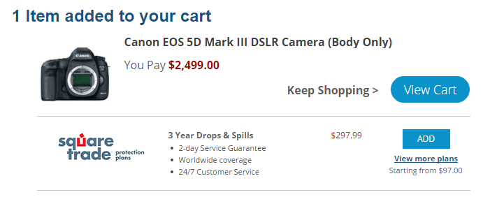 A shopping cart with a camera.