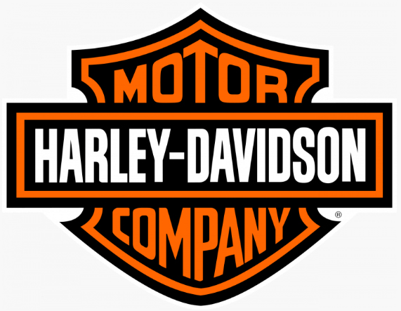 The Harley-Davidson logo.
