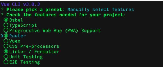 Alt Vue project CLI set up