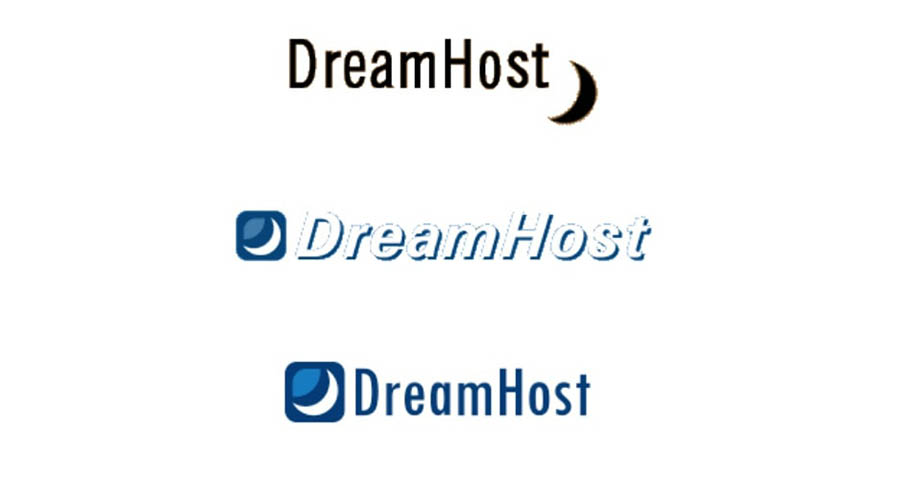 How DreamHost's logo has changed throughout the years.