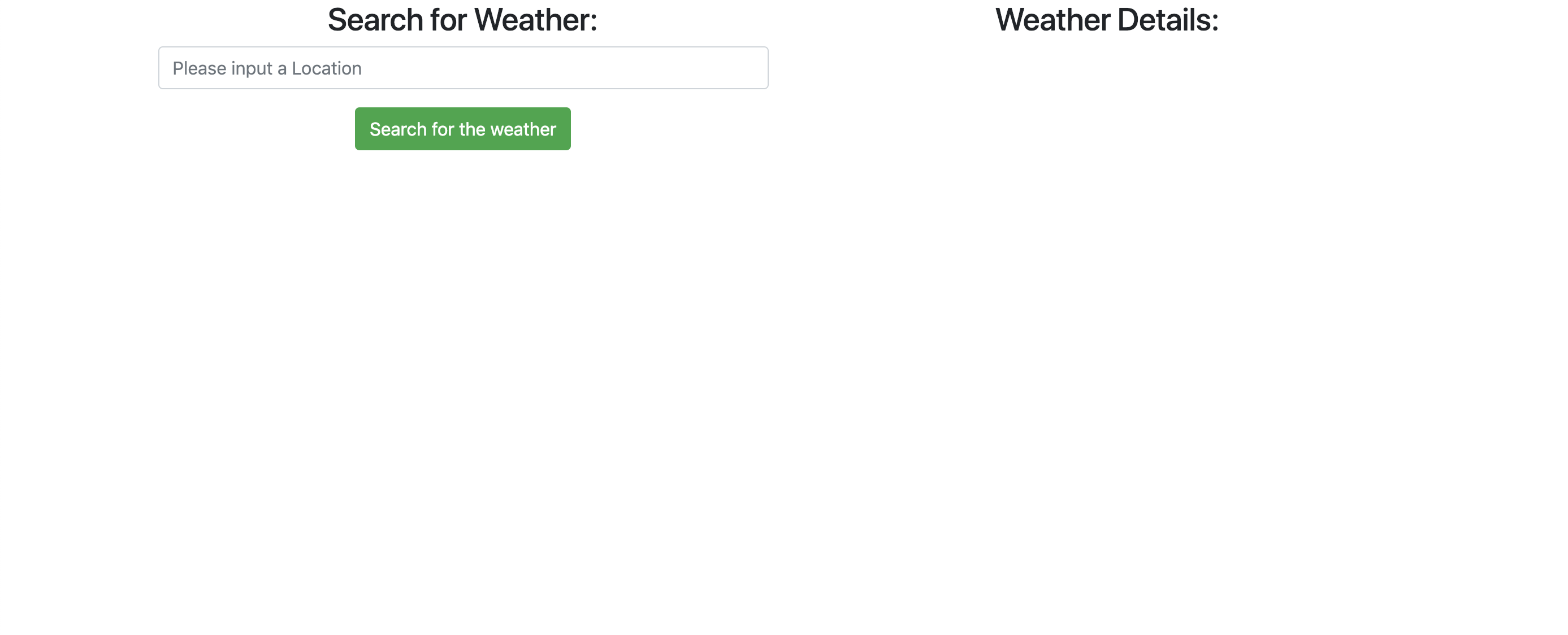 Image of weather app page so far