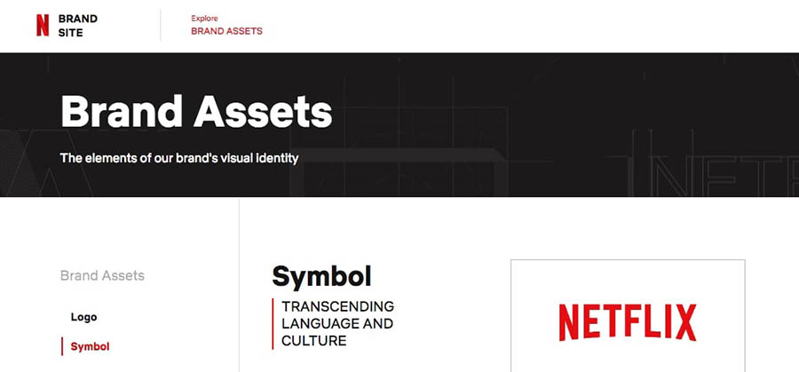 The Netflix brand style guide.