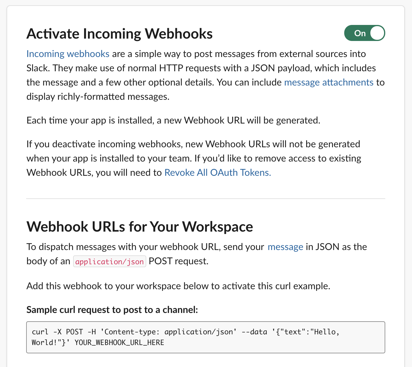 Alt activate incoming web hooks