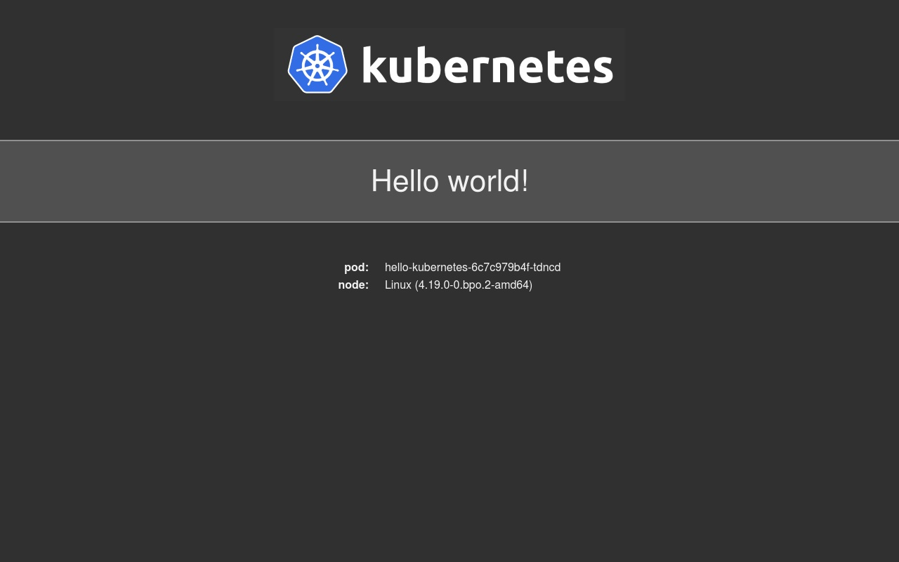 Hello World page