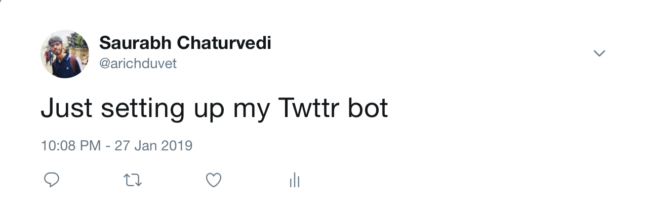 First Programmatic Tweet