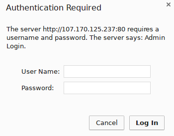 Nginx authentication page