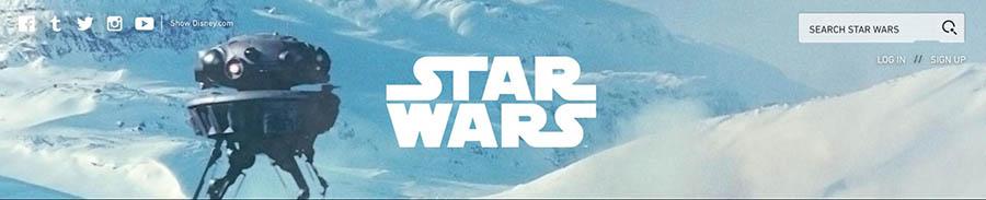 The StarWars.com search bar