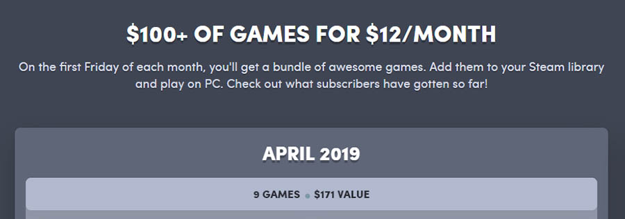 Humble Bundle offers a set price for access to hundreds of games.