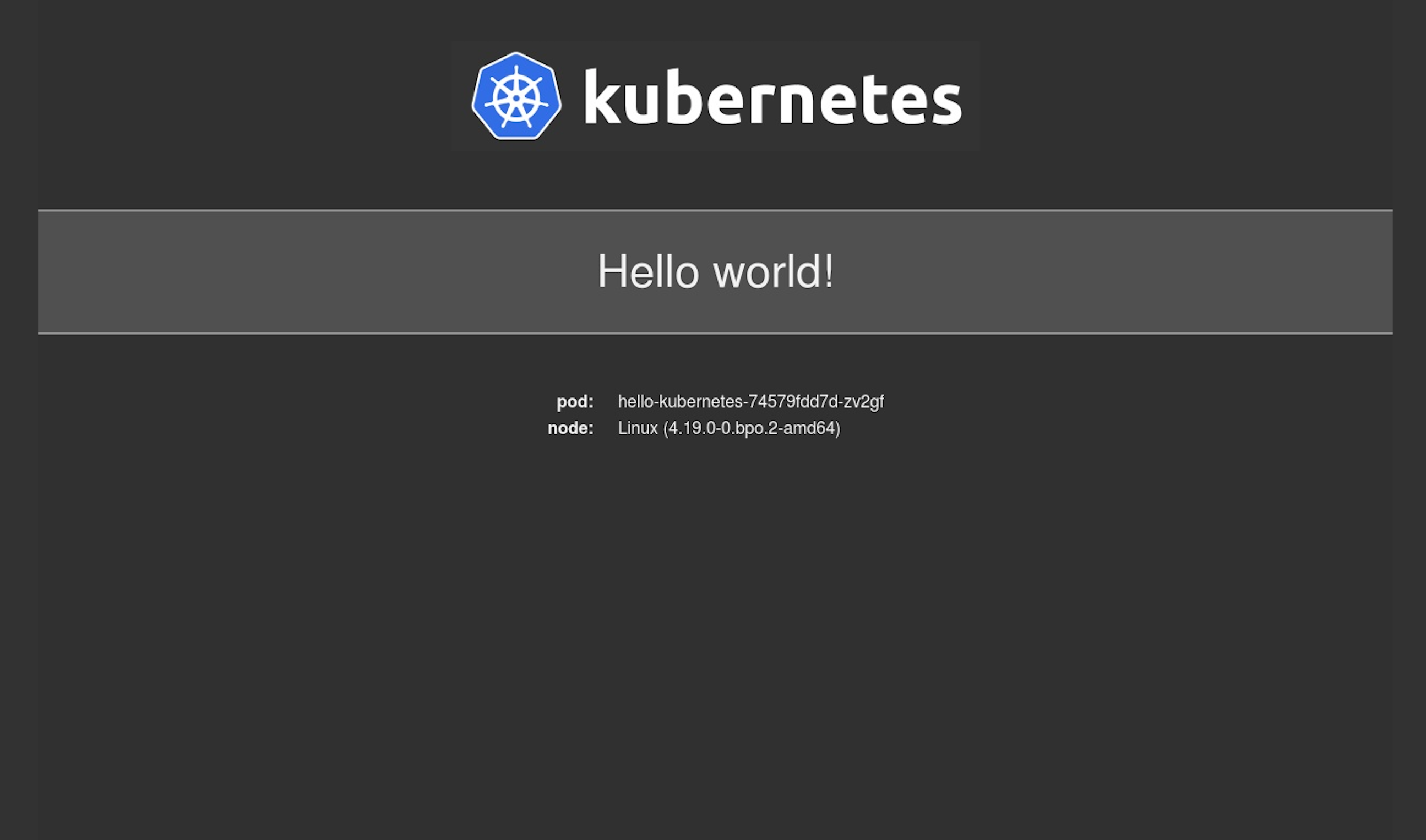 Hello World App