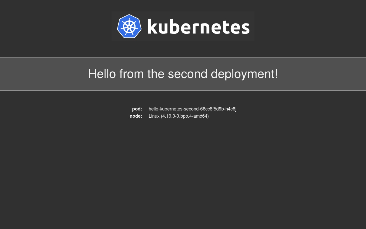 Hello Kubernetes - Second Deployment