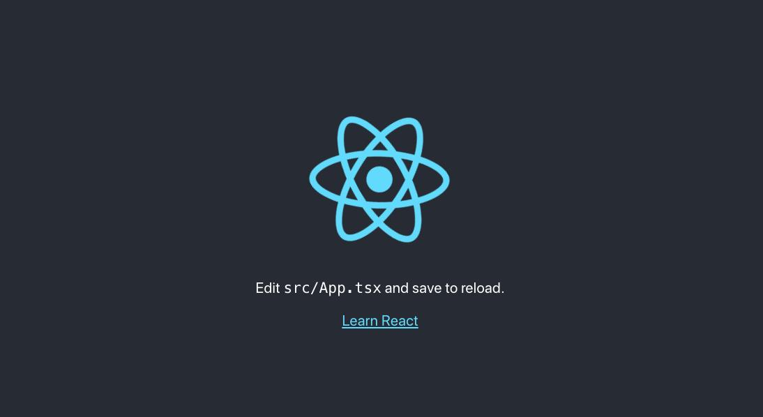 React application homepage