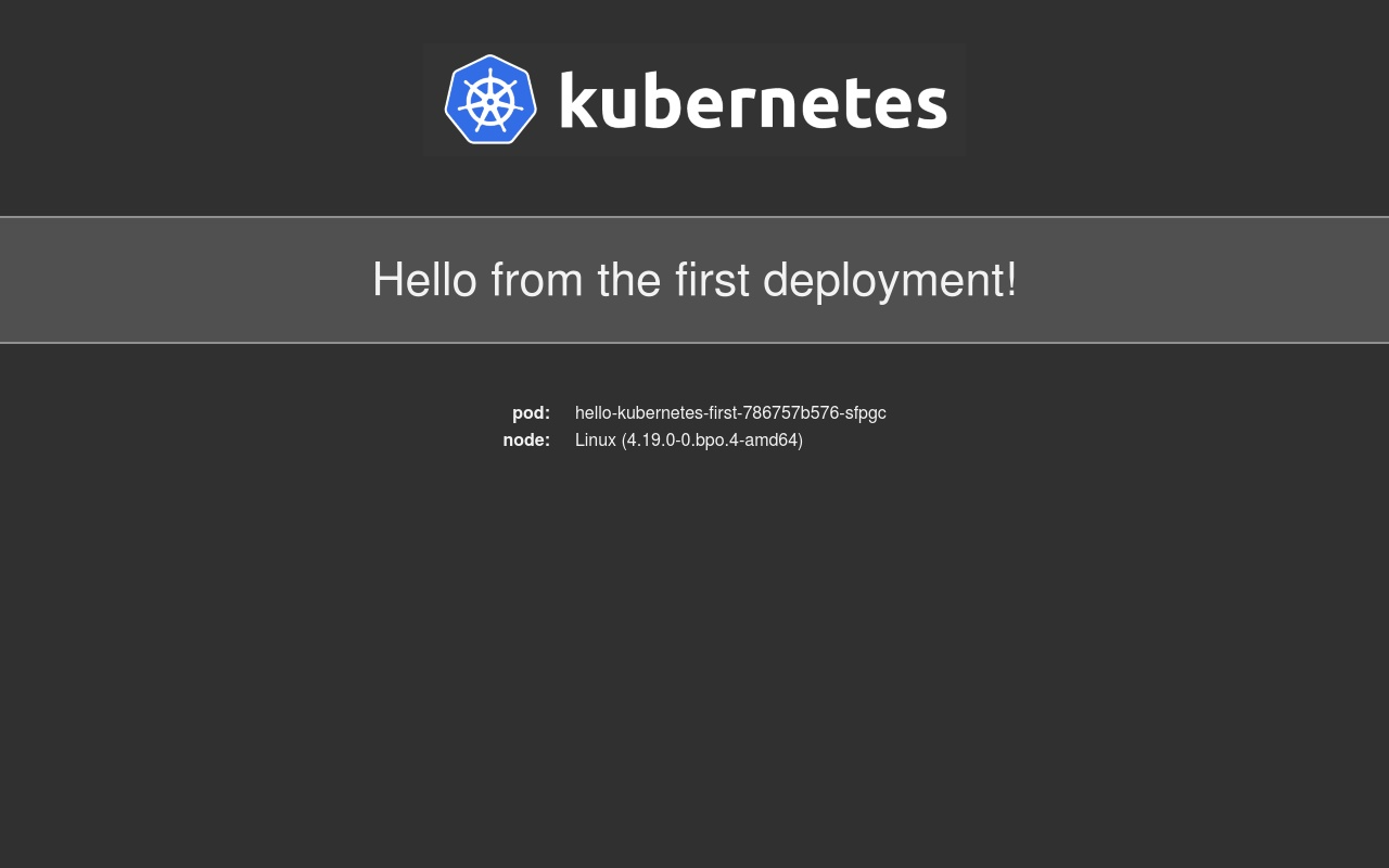 Hello Kubernetes - First Deployment