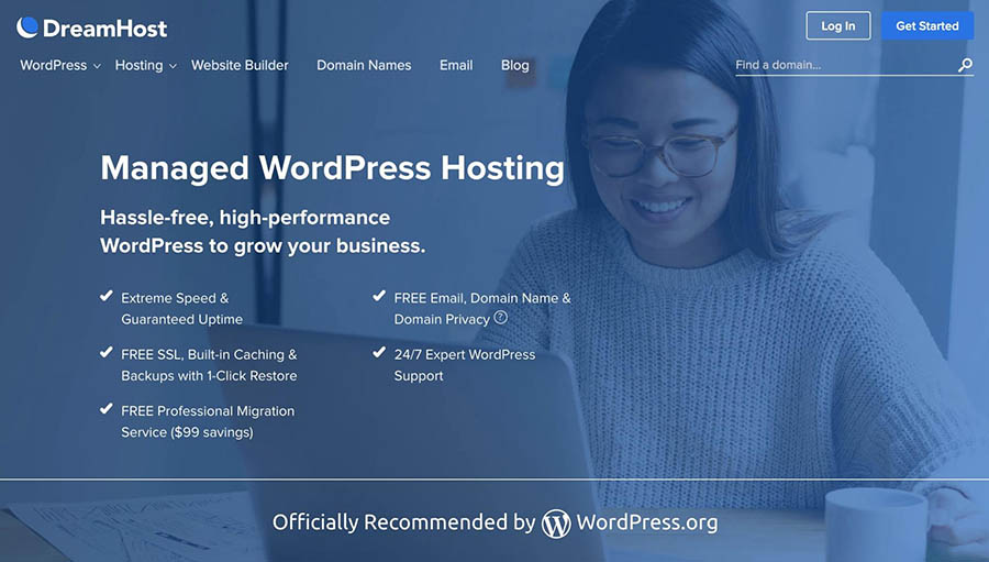 DreamPress managed WordPress hosting plans