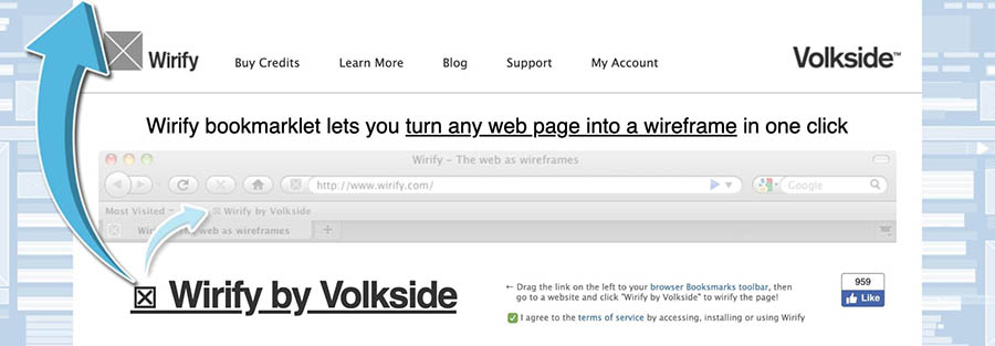 The Wirify bookmarklet.