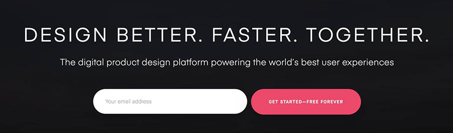 The InVision prototyping platform.
