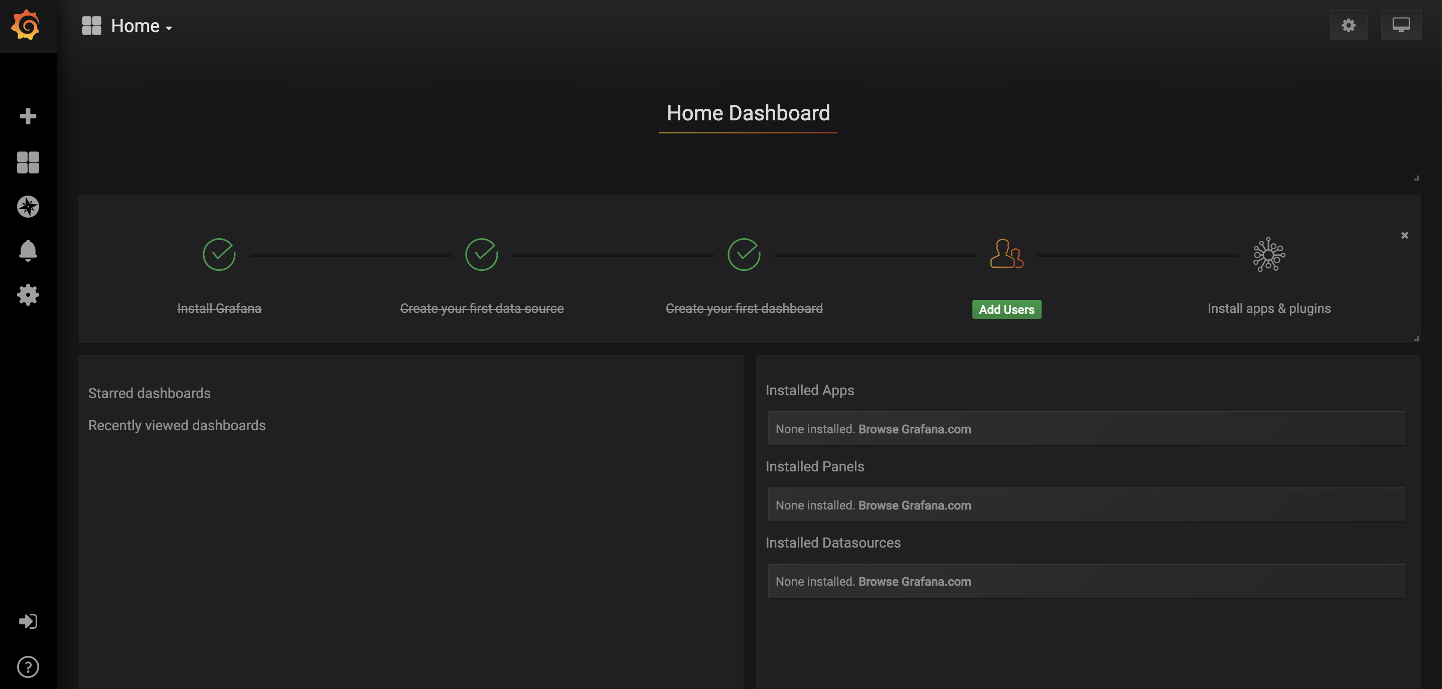 Grafana Home Dash