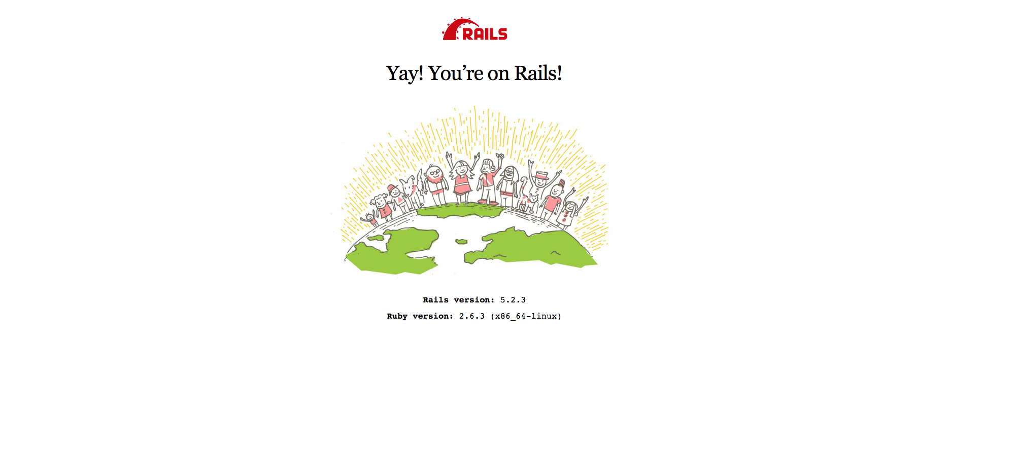Ruby on Rails Welcome Page