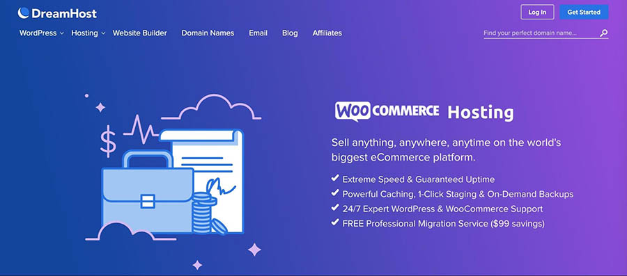 DreamHost's WooCommerce hosting plans.