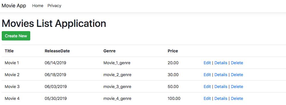 Movie list application